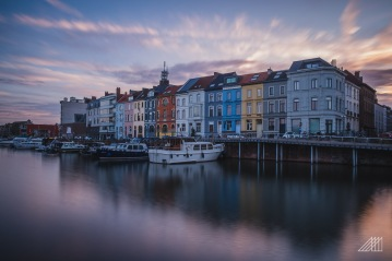 sunset riverside ghent belgium photography roaming ralph