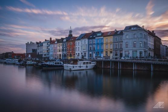 sunset riverside ghent belgium photography roaming ralph