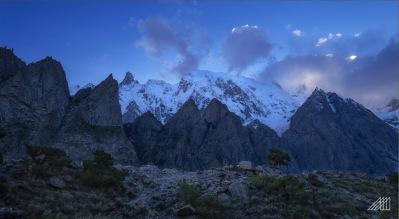 blue hour with ultar sar and ghulkin glacier humza pakistan photography roaming ralph