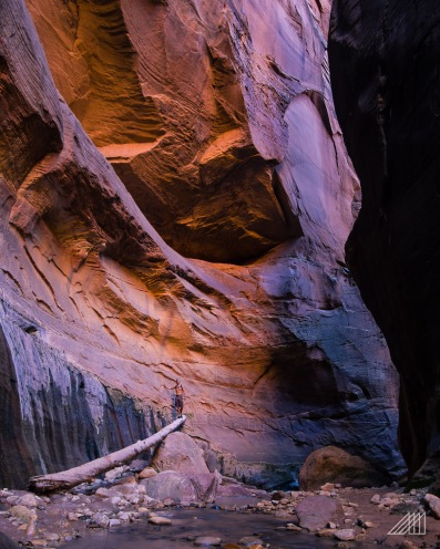 hiker orderville canyon zion national park utah photography roaming ralph