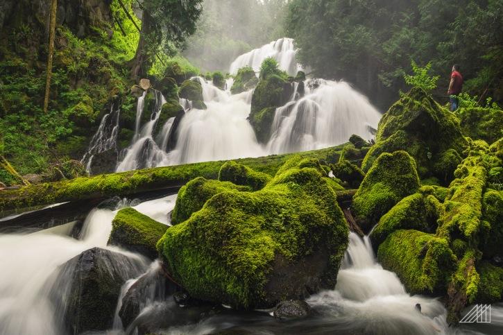 hidden place at base of marion falls oregon photography roaming ralph