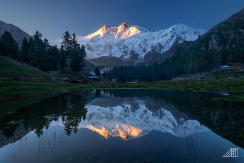 sunrise strikes nanga parbat as seen from fairy meadows pakistan photography roaming ralph