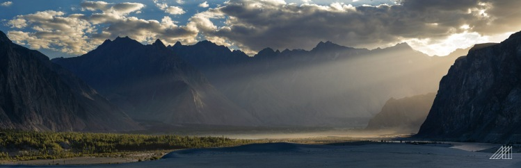 sun rays penetrate the safarana desert shigar valley pakistan photography roaming ralph