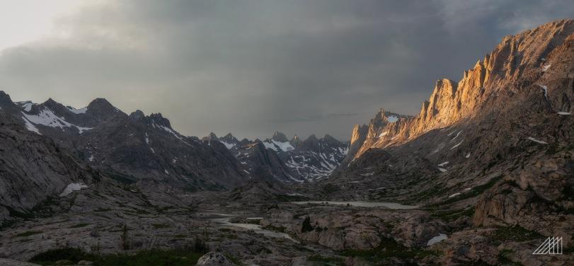 titcomb basin dusk wind river range wyoming photography roaming ralph