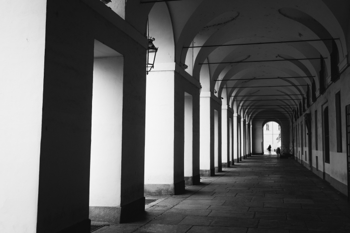 turin porticos black and white roaming ralph photography italy