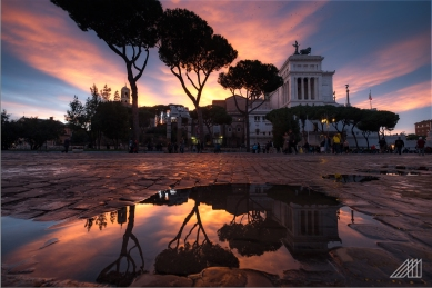 sunset at the altar padria rome