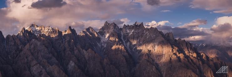 passu cones sunset pakistan