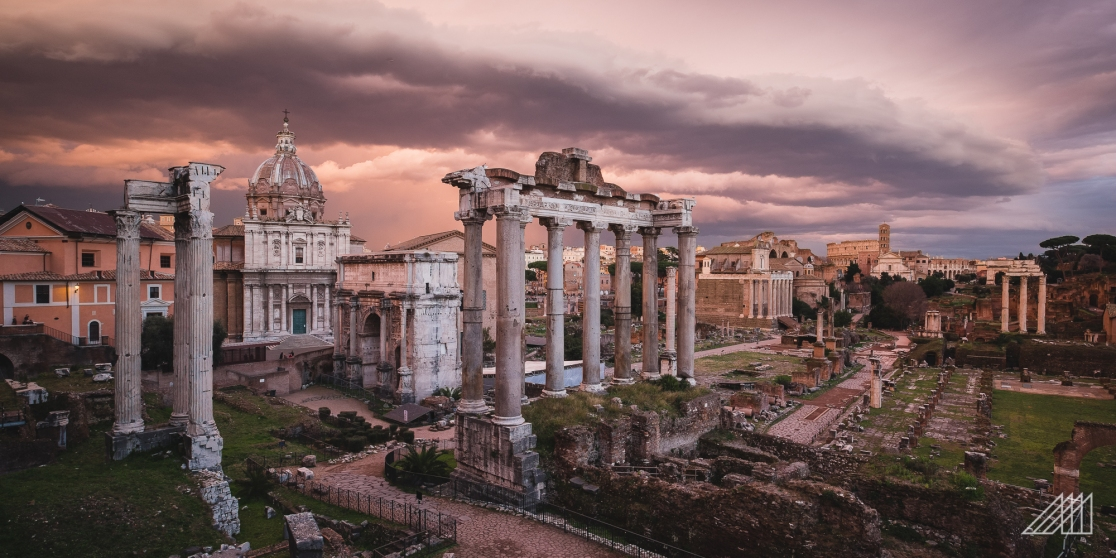 sunset roman forum