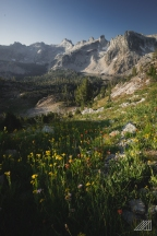 morning in sawtooth mountains idaho