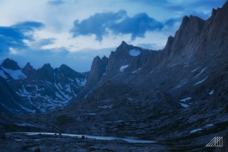 blue hour in titcomb basin wind river range wyoming